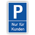 Achtung - MAXIMAL EIN Parkplatz nur fuer Kunden und Kundinnen